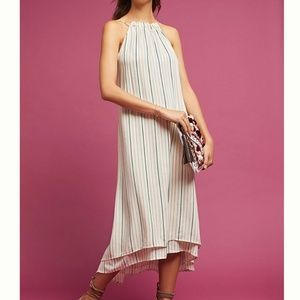 Tavik Lucca Striped Open Back Layered Midi Dress